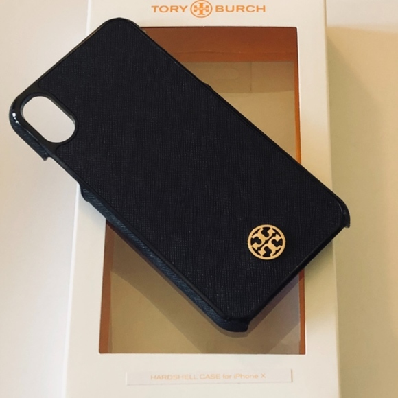 new arrivals a9610 132d7 NWT/in Box TORY BURCH iPhone X Robinson Case-Black NWT